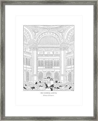 The National Capital Library Of Congress Framed Print