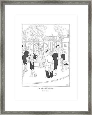 The National Capital  White House Framed Print by Gluyas Williams