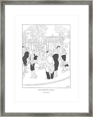 The National Capital  White House Framed Print