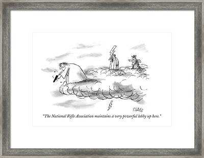 The National Rifle Association Maintains Framed Print by Sam Gross