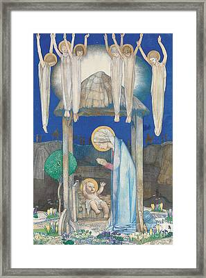 The Nativity Framed Print by Edward Reginald Frampton