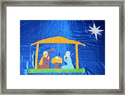 Framed Print featuring the painting The Nativity  by Magdalena Frohnsdorff