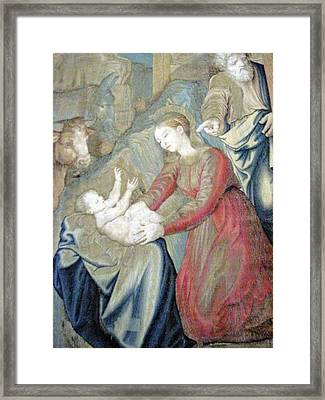 The Nativity Photograph Gallery Of Tapestries Vatican Museum Framed Print