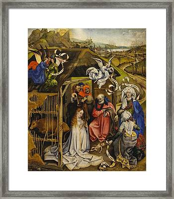 The Nativity Framed Print by Robert Campin