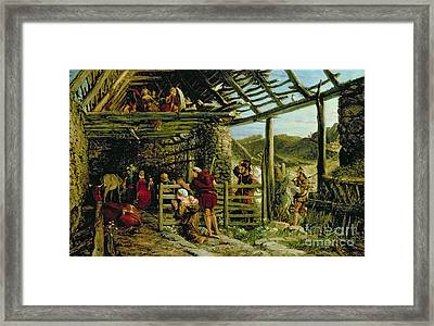 The Nativity Framed Print by William Bell Scott
