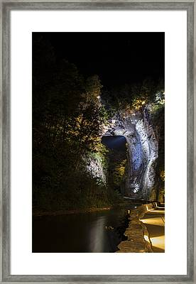 The Natural Bridge At Night  Framed Print