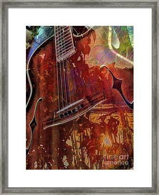 The Nature Of Music Digital Guitar Art By Steven Langston Framed Print by Steven Lebron Langston