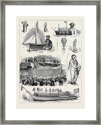 The Naval And Submarine Engineering Exhibition At Islington Framed Print by English School