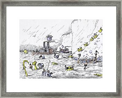 The Naval Manoeuvres Afforded Much Pleasurable Excitement Framed Print