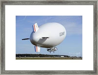 The Navys Mz-3a Manned Airship Lifts Framed Print by Stocktrek Images