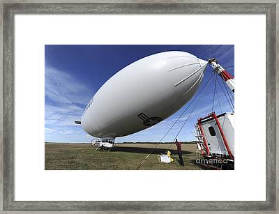 The Navys Mz-3a Manned Airship Framed Print by Stocktrek Images