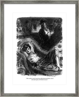 The Necklace Wasn't Worth Over ?fty Thousand Framed Print by William Galbraith Crawford