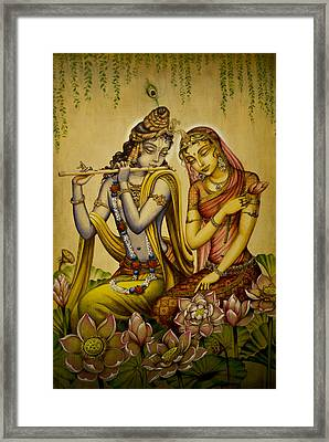 The Nectar Of Krishnas Flute Framed Print by Vrindavan Das