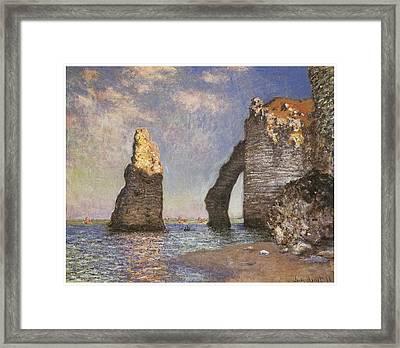 The Needle Etretat Framed Print by Claude Monet