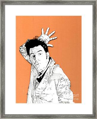 The Neighbor On Orange Framed Print by Jason Tricktop Matthews