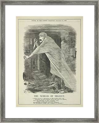 The Nemesis Of Neglect Framed Print by British Library
