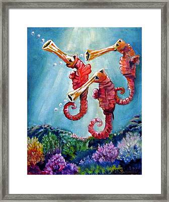 The Neptunes -- Trumpeteers Framed Print