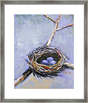 The Nest Framed Print by Brandi  Hickman