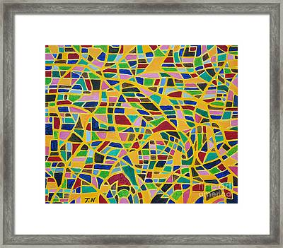 Happiness By Taikan Framed Print by Taikan Nishimoto