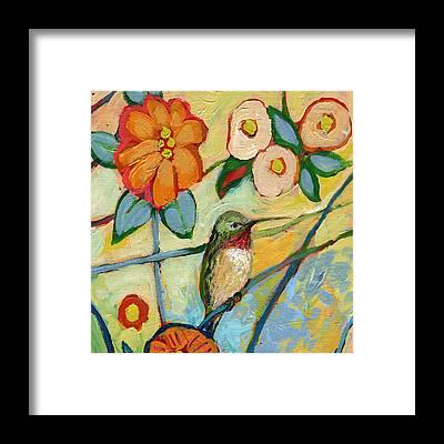 Abstract Hummingbird Framed Prints