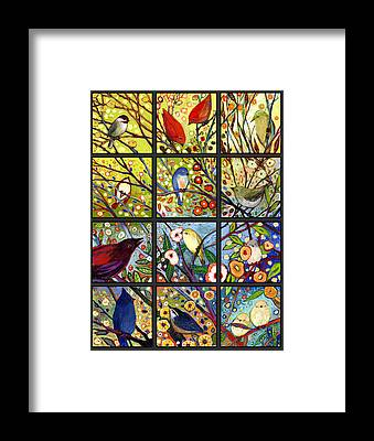 Chickadees Framed Prints