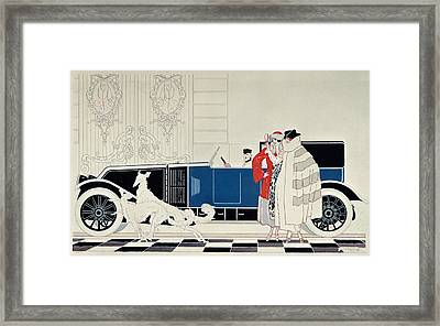 The New 6 Cylinder Renault, C 1920 Framed Print by Rene Vincent