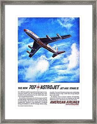 The New 707 Framed Print by Benjamin Yeager