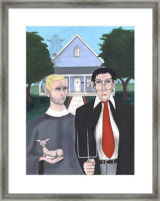 The New American Gothic Framed Print