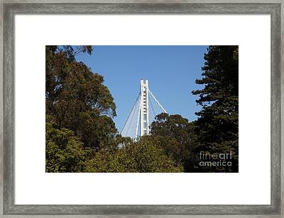 The New And The Old Bay Bridge San Francisco Oakland California 5d25391 Framed Print by Wingsdomain Art and Photography
