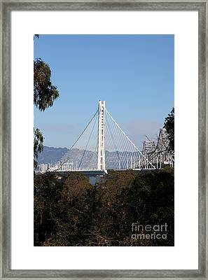 The New And The Old Bay Bridge San Francisco Oakland California 5d25397 Framed Print by Wingsdomain Art and Photography