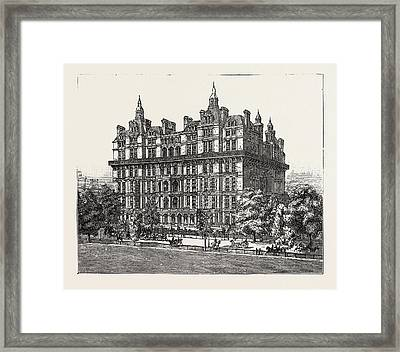 The New Buildings At Albert Gate London Framed Print
