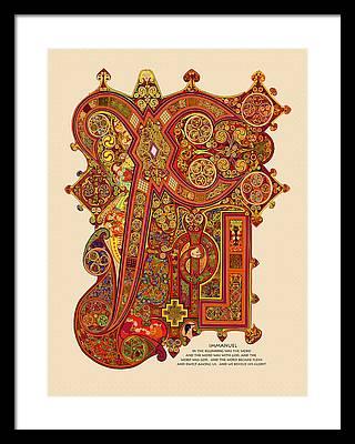 Book of kells framed prints