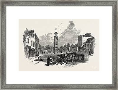 The New Clock Tower, At Epsom, Uk Framed Print