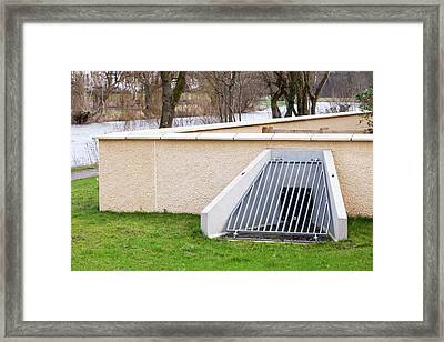 The New Flood Defences In Cockermouth Framed Print by Ashley Cooper