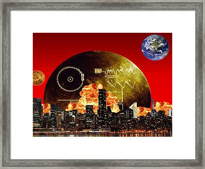 The New Frontier Framed Print by Diskrid Art