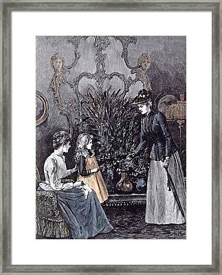The New Governess Framed Print