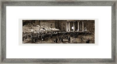The New Governor-general Of Canada Farewell Demonstration Framed Print