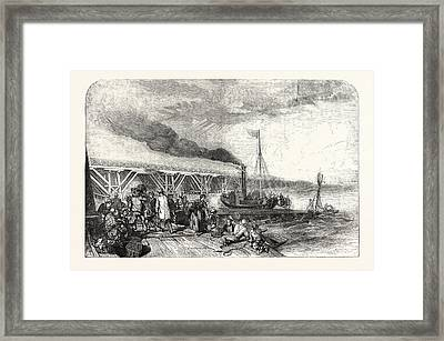 The New Holland Ferry On The Humber, Belonging Tothe Framed Print