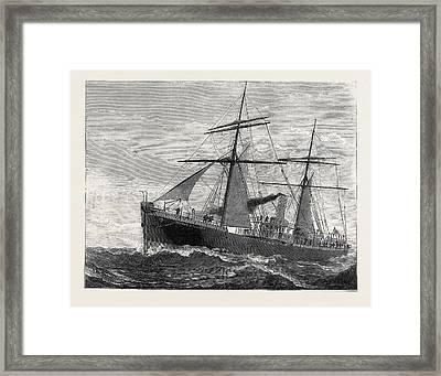 The New Indian Telegraph-ship Patrick Stewart 1879 Framed Print