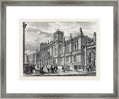 The New London University Buildings, Burlington Gardens Framed Print