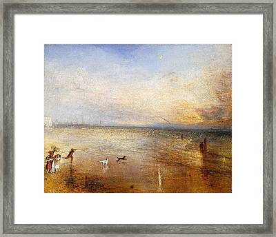 The New Moon Framed Print by JMW Turner