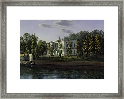 The New Pavilion In The Gardens Of Charlottenburg Palace, C.1824-25 Wc On Paper Framed Print