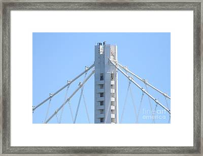 The New San Francisco Oakland Bay Bridge 7d25453 Framed Print by Wingsdomain Art and Photography