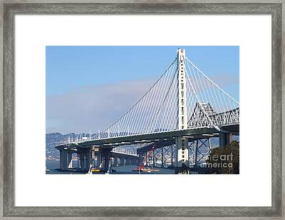 The New San Francisco Oakland Bay Bridge 7d25464 Framed Print by Wingsdomain Art and Photography