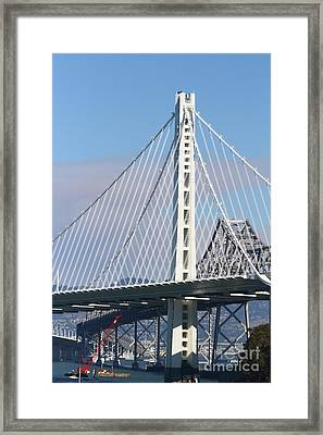 The New San Francisco Oakland Bay Bridge 7d25468 Framed Print by Wingsdomain Art and Photography