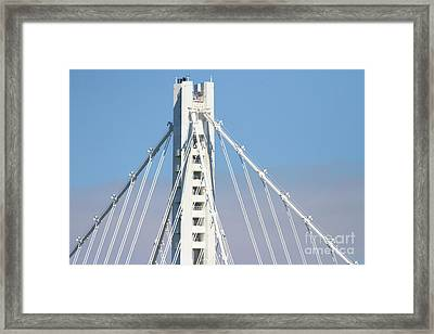 The New San Francisco Oakland Bay Bridge 7d25481 Framed Print by Wingsdomain Art and Photography