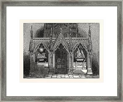 The New Screen In Westminster Abbey, London, Uk, Britain Framed Print