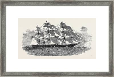 The New Screw Clipper Ship Khersonese Framed Print by English School