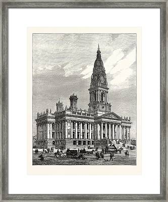 The New Townhall Of Bolton, Lancashire, Opened Framed Print