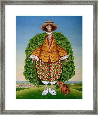 The New Vestments Ivor Cutler As Character In Edward Lear Poem, 1994 Oils And Tempera On Panel Framed Print by Frances Broomfield